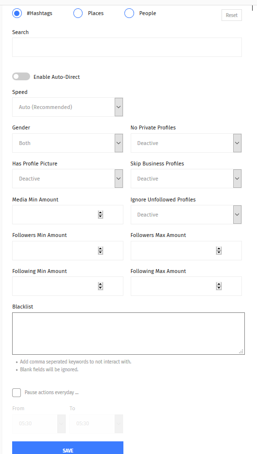 Setting up the Auto DM feature