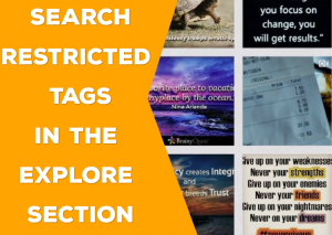 Explore Section - Search Restricted Hashtags